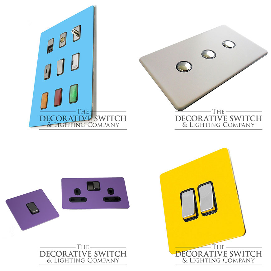 Selection of our Custom Coloured Switches and Sockets