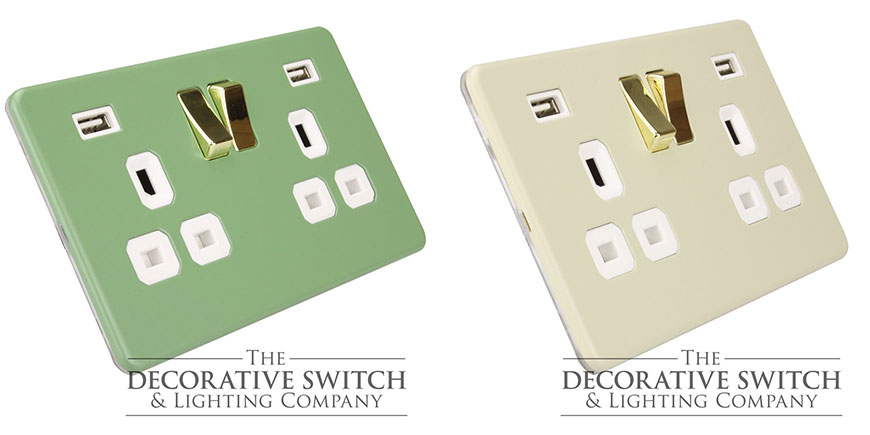 Twin USB Sockets with Gold Rockers