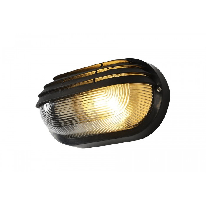 Patio Lights Screwfix: COAST PUCK Oval Eyelid Round Polycarbonate Bulkhead Black
