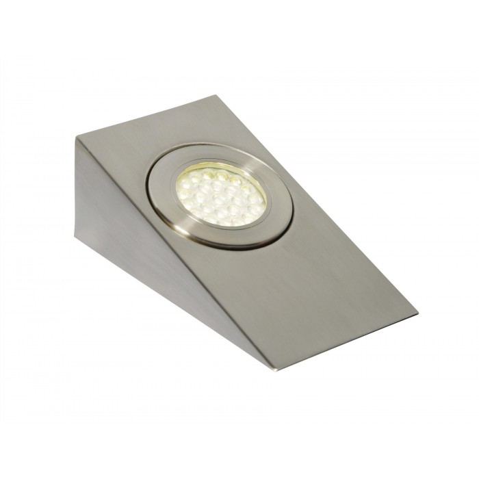 Masterlite Mains Powered Led Cabinet Light Pack Of 3: CULINA LAGO LED, Mains Voltage, Wedge Cabinet Light, 4000K