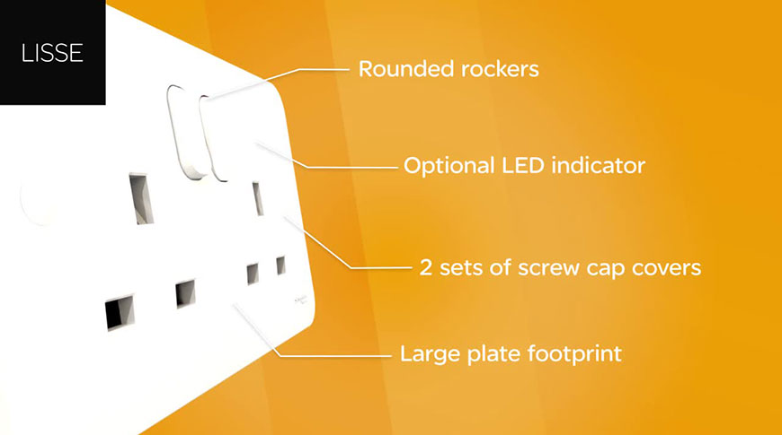 Lisse White Moulded Range of Wiring Accessories