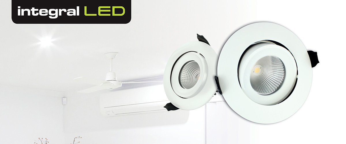 Integral LED Luxury Tiltable IP65 Downlights