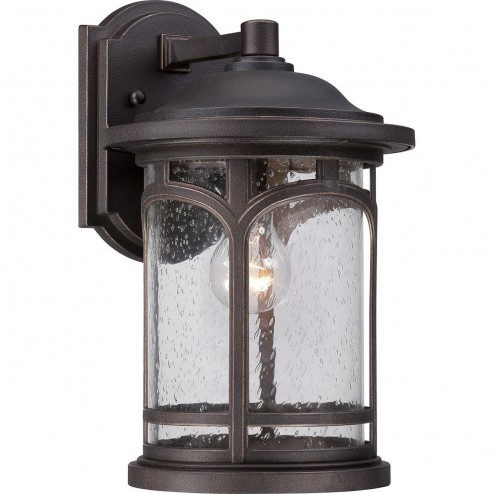 Quoizel QZ/MARBLEHEAD2/M Marblehead 1 Light Medium Wall Lantern Light In Palladian Bronze