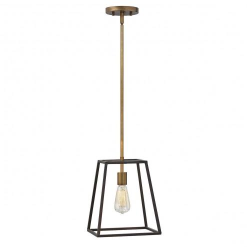 Hinkley HK/FULTON/P Fulton 1 Light Ceiling Pendant Light In Bronze
