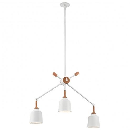 Kichler  KL/DANIKA3 Danika 3 Light Linear Ceiling Chandelier Light In White