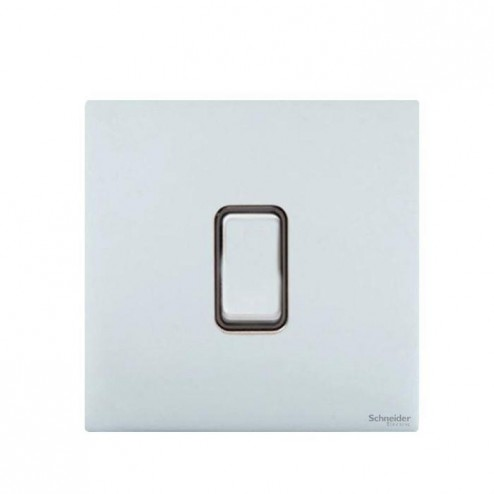 GU1412RBPC SCHNEIDER ULTIMATE SCREWLESS 1 GANG 2 WAY 10A RETRACTIVE PLATE SWITCH POLISHED CHROME / BLACK INSERT