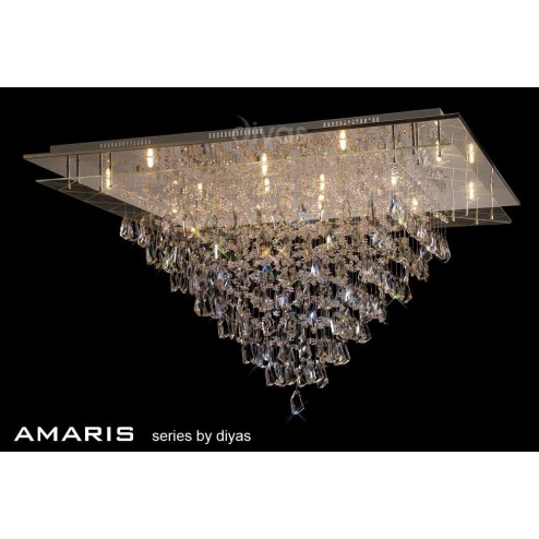 Amaris Ceiling 14 Light Polished Chrome/Crystal