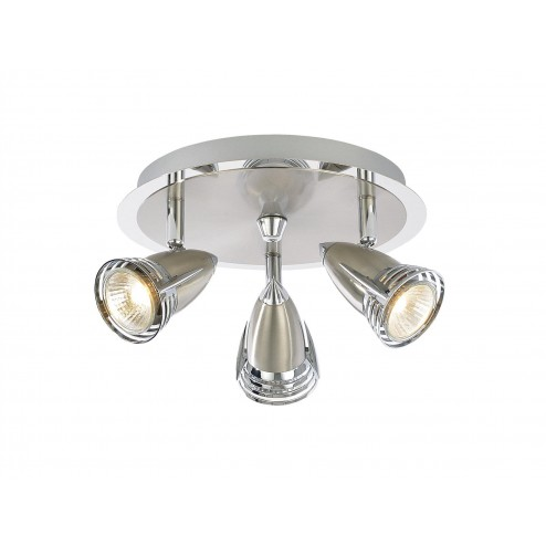 INLIGHT ELARA Elara Black Nickel 3 light Satin Nickel & Chrome
