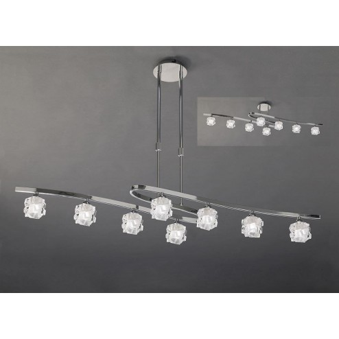 Mantra M1840 Ice Telescopic 8 Light G9 ECO, Polished Chrome