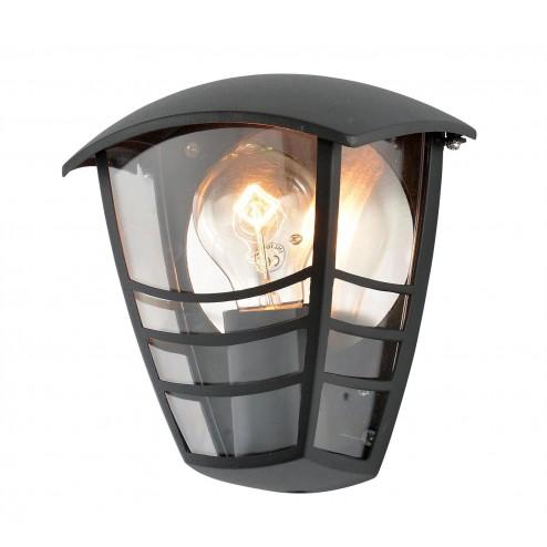 ZINC Perdita Perdita Aluminium Half Wall Lantern Black
