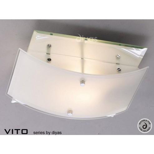 Vito Ceiling 2 Light Polished Chrome/Mirror