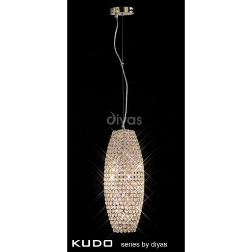 Kos Pendant 4 Light French Gold/Crystal