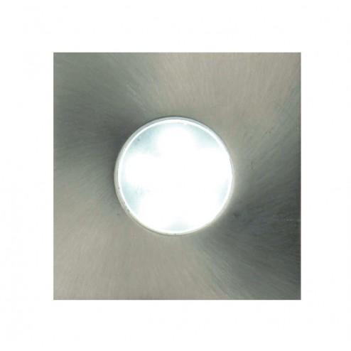 CULINA  LED Mains Voltage Plinth/Decking Light - Square Brushed Chrome