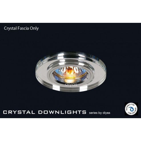 Crystal Downlight Shallow Round Rim Only Clear