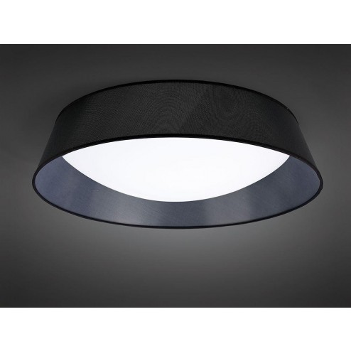 Mantra M4967 Nordica Ceiling 60W LED 90cm Black 3000K, White Acrylic With Black Shade