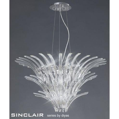 Sinclair Pendant 12 Light Polished Chrome