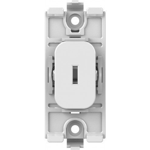 SCHNEIDER LISSE WHITE MOULDED GRID 20AX DP KEY SWITCH MODULE WHITE