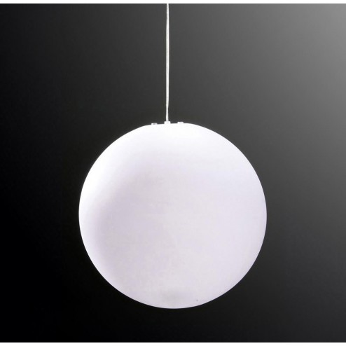 Mantra M1399 Huevo Ball Pendant 1 Light E27 Large Outdoor IP44, Opal White