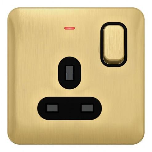 Schneider Lisse Deco 1G 13A DP Sw Socket with LED Ind BSB