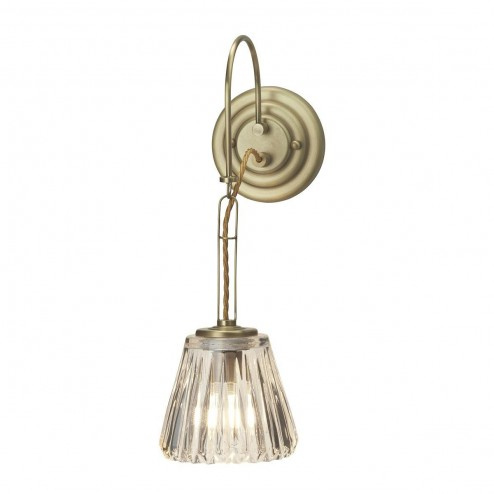 Elstead BATH/DEMELZA BB Demelza 1 Light Bathroom Wall Light In Polished Brass