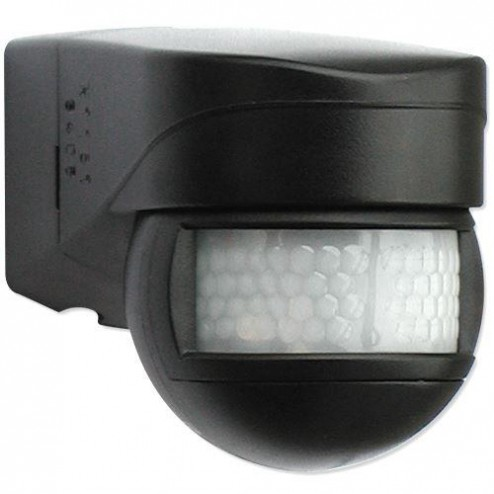 LUXOMAT® LC-Mini 120 Motion Detector Black