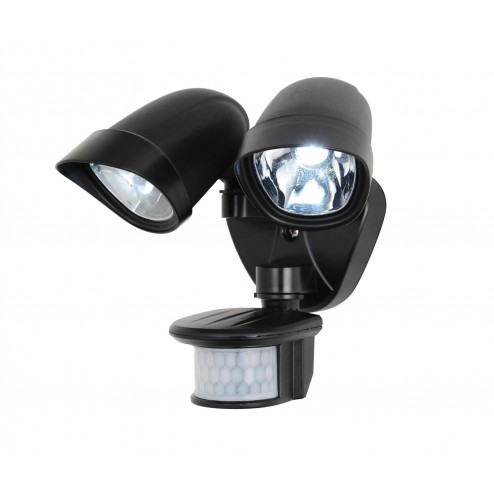 COAST JUPITER LED Twinspot, c/w PIR Black