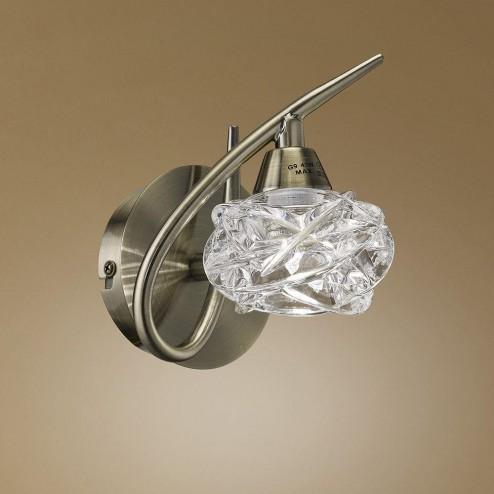 Mantra M4078 Maremagnum Wall Lamp 1 Light G9, Antique Brass