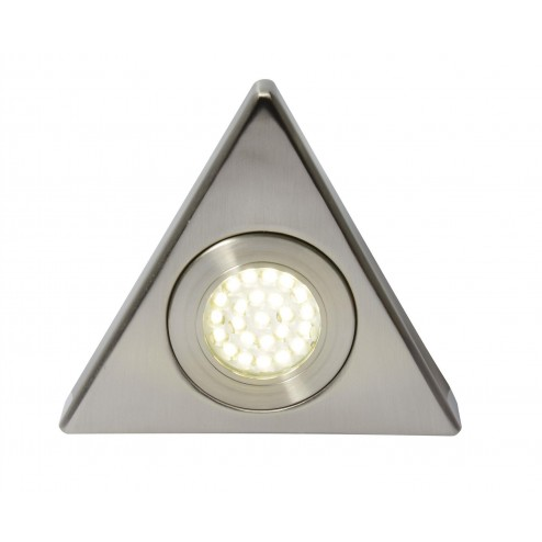CULINA FONTE LED, Mains Voltage, Triangular Cabinet Light, 3000K Satin Nickel