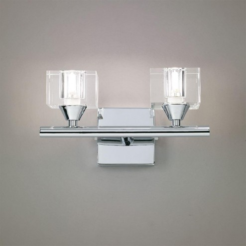 Mantra M2364/S Cuadrax Wall Lamp Switched 2 Light G9, Polished Chrome