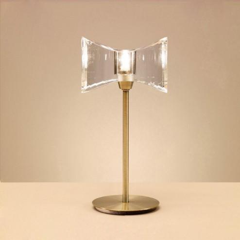 Mantra M0894AB Kromo Table Lamp 1 Light G9 Sraight Frame, Antique Brass