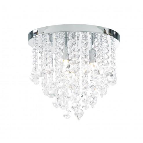 SPA CELESTE SPA Celeste 33cm Iris Flush 6lt (IP44) Chrome & Clear Glass
