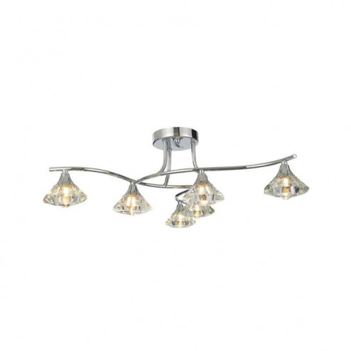 SPA SPA-28327-CHR REENA 6 Light Ceiling Fitting