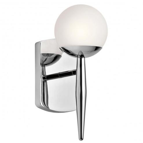 Kichler  KL/JASPER1 BATH Jasper 1 Light Bathroom Wall Light in Polished Chrome