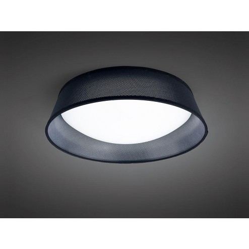 Mantra M4965 Nordica Ceiling 21W LED 45CM Black 3000K, White Acrylic With Black Shade
