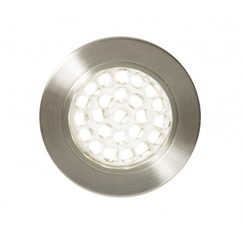 CULINA POZZA LED, Mains Voltage, Circular Cabinet Light, 3000K Satin Nickel