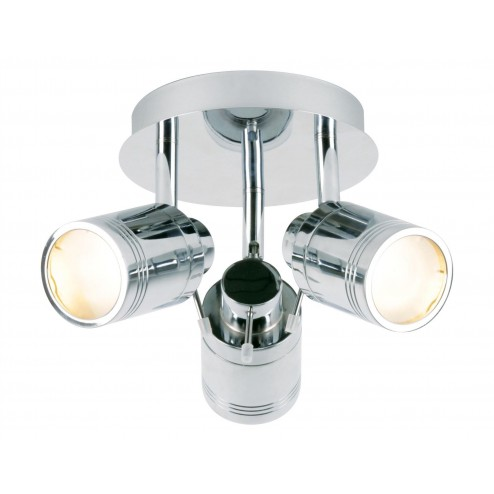SPA SCORPIUS  3 Light Spot Fitting Chrome & Frosted Glass