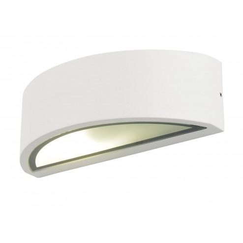 ZINC SELENE Curved Wall Fitting White