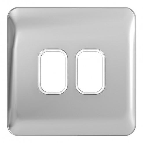 Schneider Lisse Deco  1G 2 Module Grid Plate WPC