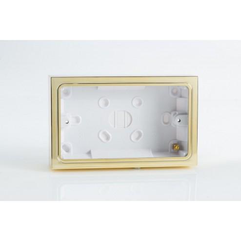 Varilight Double Surface Decorative Pattress Box Polished Brass Effect