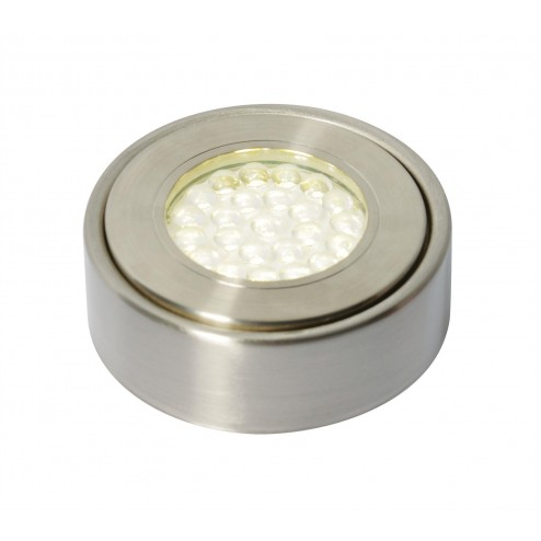 CULINA LAGHETTO LED, Mains Voltage, Circular Cabinet Light, 6000K Satin Nickel