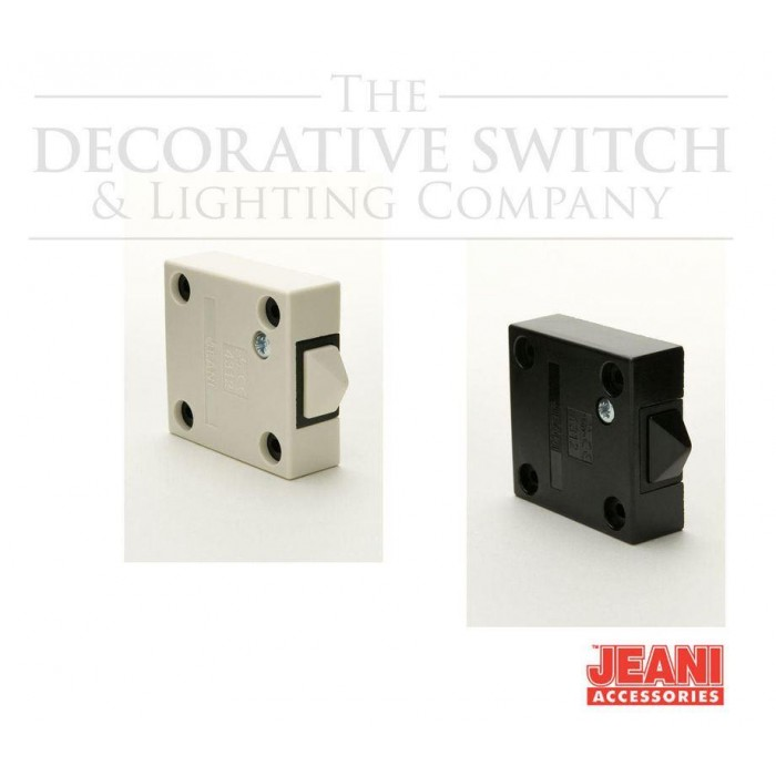 Jeani 2A Surface Push To Break Door Switch 143B or 143W - Decswitch.com