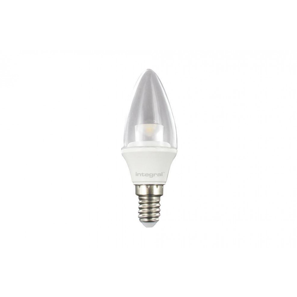 Integral LED 5.5W Candle Frosted Bulb E14 Small Screw-in 2700K Warm White