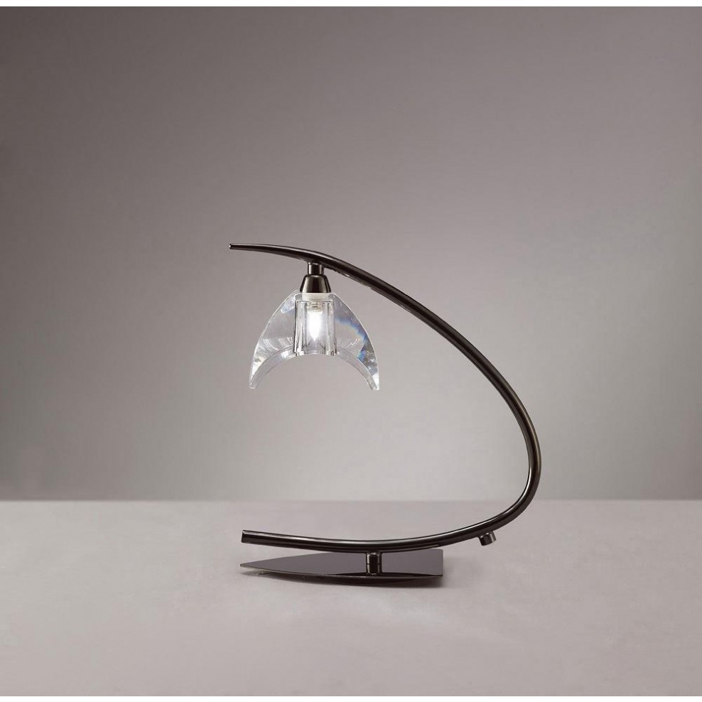 Table Lamp 1 Light G9, Black Chrome