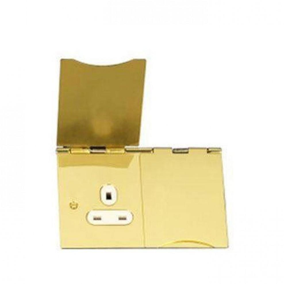 Gu3252wpb Schneider Ultimate Flat Plate Polished Brass White